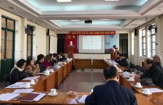 Viện Nghiên cứu Thiết kế Trường học họp Hội nghị Viên chức, người lao động năm 2021