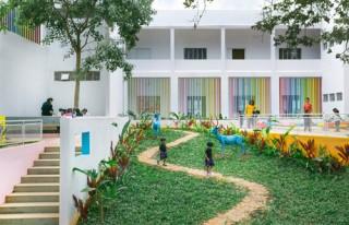 Cải tạo nhà máy đồng hồ bỏ hoang tại Ấn Độ thành trường mầm non