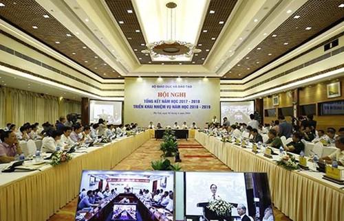 Hội nghị tổng kết năm học 2017-2018, triển khai nhiệm vụ năm học 2018-2019