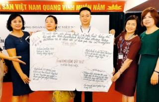 Chủ tịch Công đoàn Viện Nghiên cứu Thiết kế trường học tham gia tập huấn triển khai Điều lệ Công đoàn Việt Nam khóa XII