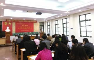 Hội nghị Cán bộ công chức, viên chức Viện NCTK Trường học năm 2018
