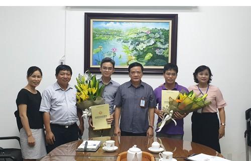 Lễ công bố Quyết định bổ nhiệm Trưởng phòng Kế hoạch Kinh doanh và P. Giám đốc Trung tâm Tư vấn giám sát và Khảo sát xây dựng
