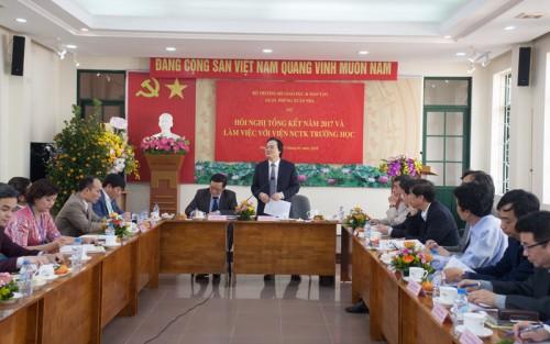 Thông báo Kết luận của Bộ trưởng Bộ Giáo dục và Đào tạo tại buổi làm việc với Viện NCTK Trường học